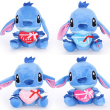 20cm 4pcs Kawaii Stitch Plush Doll Toy Anime figure Stuffed Cute Kids Children Birthday Gift