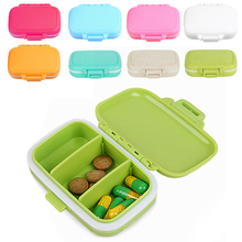 1pc Foldable and Portable Daily Vitamin Medicine Pill Box Case Container Travel Storage Organizer Container Case