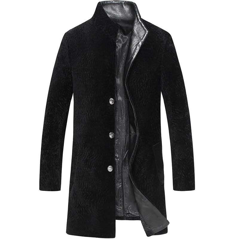 Real Fur Coat Autumn Winter Jacket Men Sheep Shearling Fur Coats Plus Size Mens Jackets And Coat LSY069092 MY1377