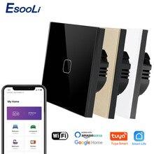 Voice-Control-Light Wall-Switch Fire-Line Tuya Smart-Life-Glass Zero/single Wireless