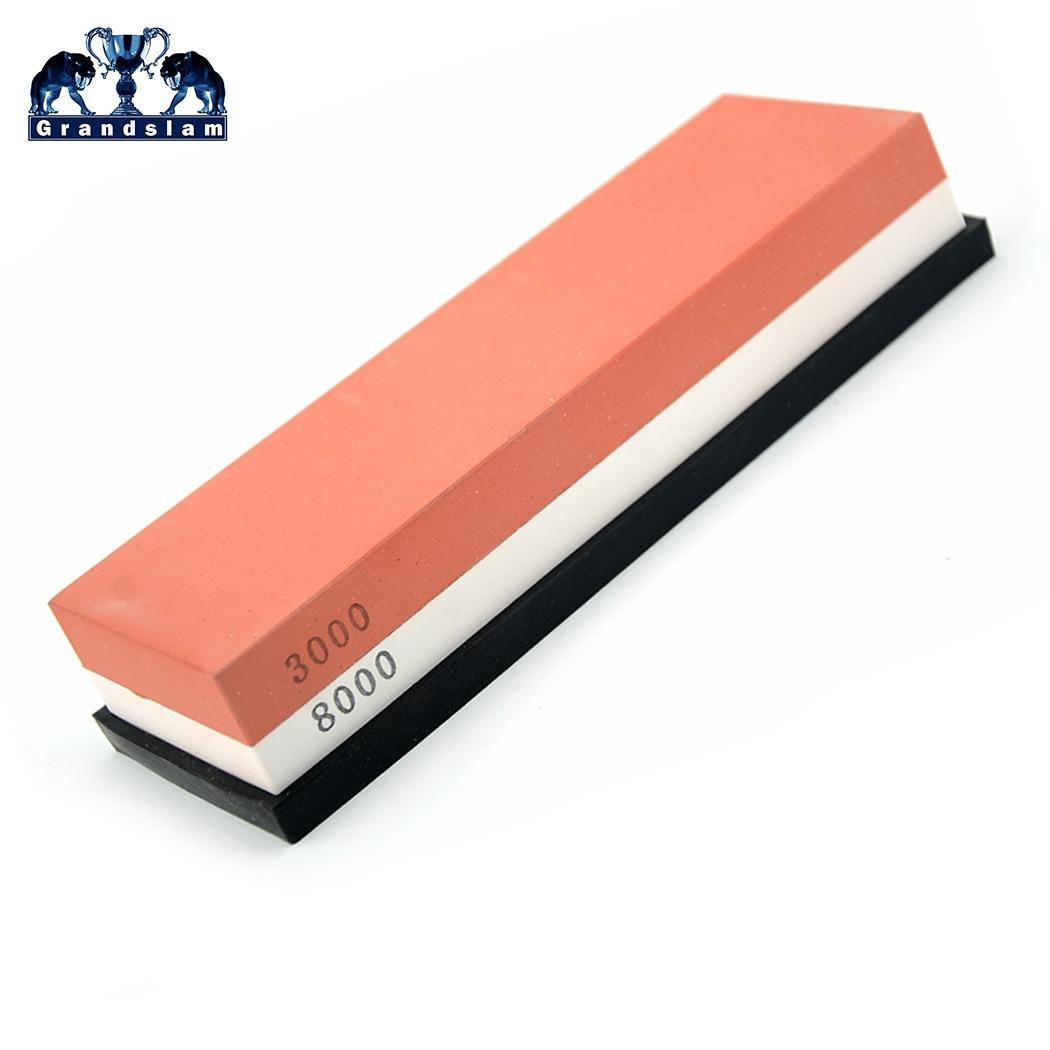 1000 / 4000 3000 / 8000 Grit Straight Razor Knife Sharpening Whetslate Rubstone Corundum Whetstone Stone Kitchen Sharpener