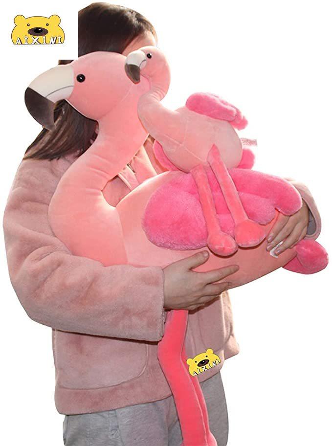 AIXINI 90cm Soft Flamingo Stuffed Animal Pink Flamingo Decor Baby Toys for Girls Kids Toys for Birthday Gift Flamingo Decoration