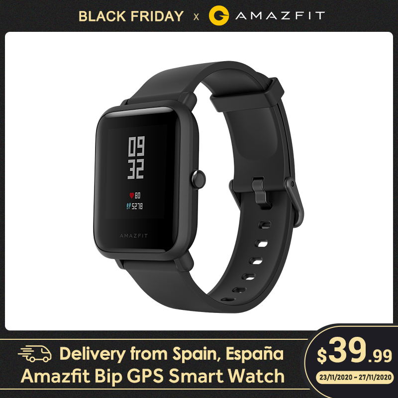 Huami Amazfit Bip Smart Watch GPS Smartwatch Android iOS Heart Rate Monitor 45 Days Battery Life IP68 Always on Display