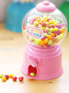 Toys Candy-Machine Money-Games Bubble Gum Birthday Sweets Kids Educations Cute Save Ball-Dispenser
