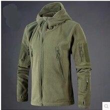 Jacket Men Fleece Army-Polartec Military-Tactical Hunt Sportswear Hoodie Soft-Shell Hiking