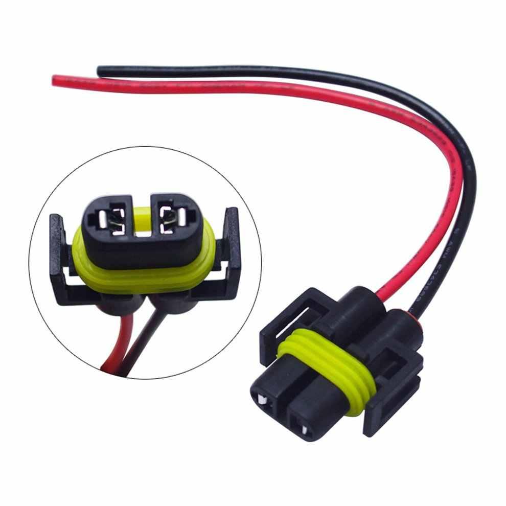Mobil Soket Lampu H8/H9/H11 Kabut Lampu Soket Adaptor H11 Lampu Dudukan Lampu dengan Kawat Kepala Wanita LED Soket Konektor Adaptor