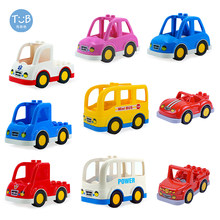 Big Size klocki samochód sportowy autobus akcesoria do samochodów ciężarowych cegły kompatybilne cegły dzieci DIY części dzieci prezent zabawki miasto bloki