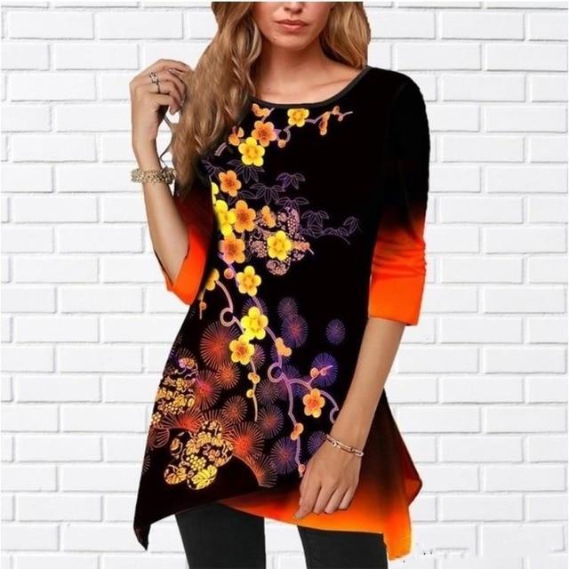 Women Shirt Plus Size Milk-silk  Spring Color 1