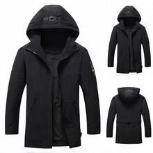 Модная мужская Осенняя зимняя уличная ветровка Толстая теплая штормовка куртка пальто