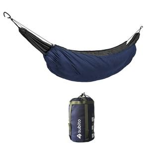 Image 2 - Hamak śpiwór Ultralight Outdoor hamak kempingowy wiatroodporny ciepły pokrowiec przenośny zimowy pod kołdrą koc bawełniany hamak