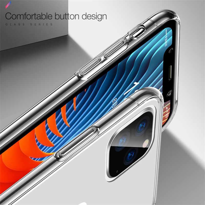 高級クリアソフトtpuケースiphone 5 11 プロマックス 7 8 6 6sプラス 7 プラス 8 プラスx xs最大xrための透明電話ケース 5 5s、se 6 s-plus