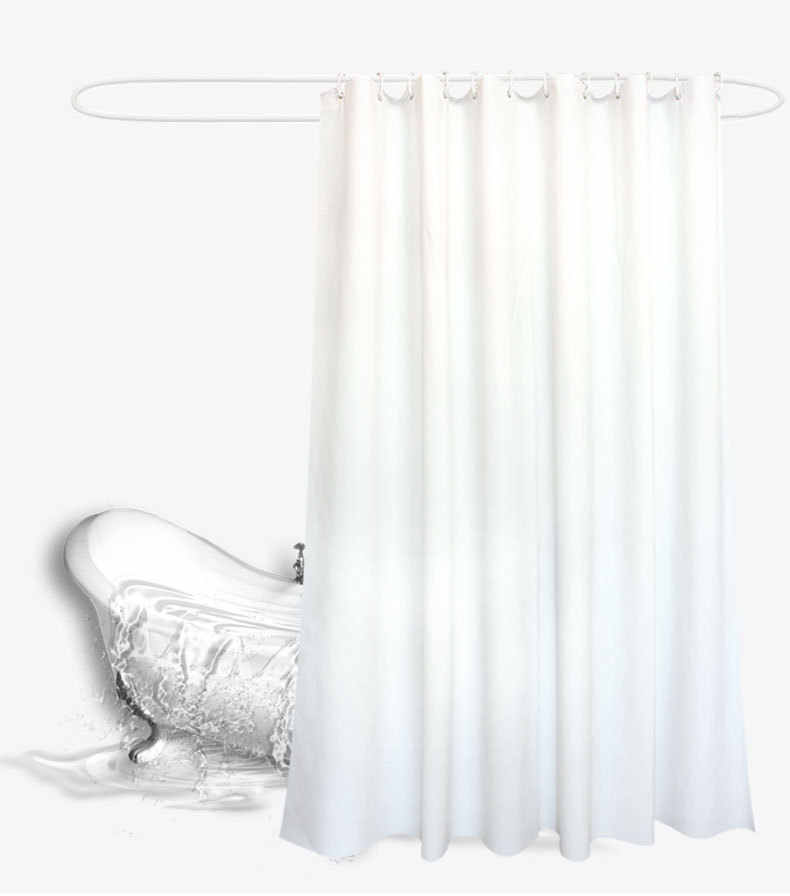 Tahan Air dan Jamur Tahan Kamar Mandi Shower Tirai Sederhana Modern Kualitas Tinggi Warna Solid Tebal Putih Shower Tirai Tirai