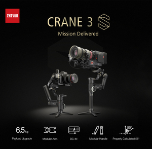Image 5 - Zhiyun מנוף 3 S/SE Gimbal מייצב 3 ציר כף יד Gimbal 6.5kg מטען שידור תמונה עבור DSLR מצלמה VS מנוף 2