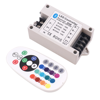 DC12-24V RGB/RGBW Bluetooth Controller 30A/42A 24Key IR Remote Control 360W Big Power BT Controller for RGBW/RGB LED Strip Light