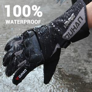 Image 2 - DUHAN Motorrad Heizung Handschuhe Batterie Powered Moto Guantes Winter Wasserdichte Reiten Handschuhe Warme Touchscreen Guantes Para Moto
