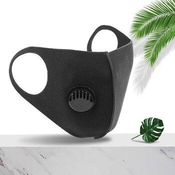 1/5pcs Filter PM2.5 Mouth Face Mask Black Masks Washable Reusable for Adult Sponge Mouth Mask