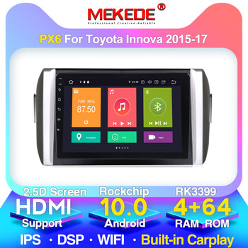 PX6 4G For Toyota INNOVA 2015 2016-2018 LHD Car Radio Multimedia Video Player Navigation GPS Android 10 No 2din 2 Din Dvd image