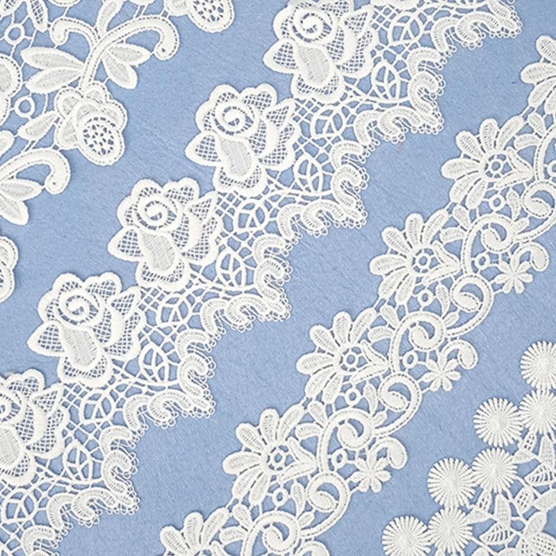 Delicate 7Yards Cording Fabric Flower Venise Venice Lace Trim Applique Sewing Craft For Wedding Applique Collar Lace Dress Decor