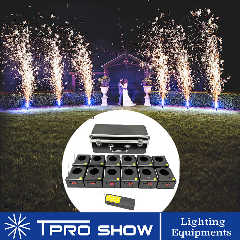 8/12 Fireworks Pyrotechnics Mini Fountain Wedding Party Machine Cold Fire System Wireless Remote Control Stage Ligting Equipment
