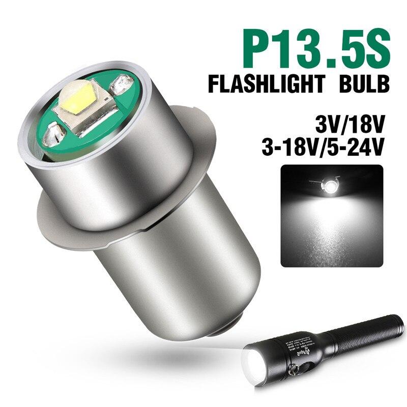 P13.5S 3W bombilla LED para linternas bombillas LED de repuesto iluminación de actualización de linterna LED 3V 18V DC3-18V/5-24 V Lámparas de bombilla Led E27/E26 lámpara de mesa Flexible brazo oscilante abrazadera montaje lámpara Oficina estudio hogar mesa escritorio luz UE/EE. UU. Enchufe AC85-265V