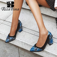 RizaBina Size 32-47 Thick High Heels Shoes Ladies' Fashion P