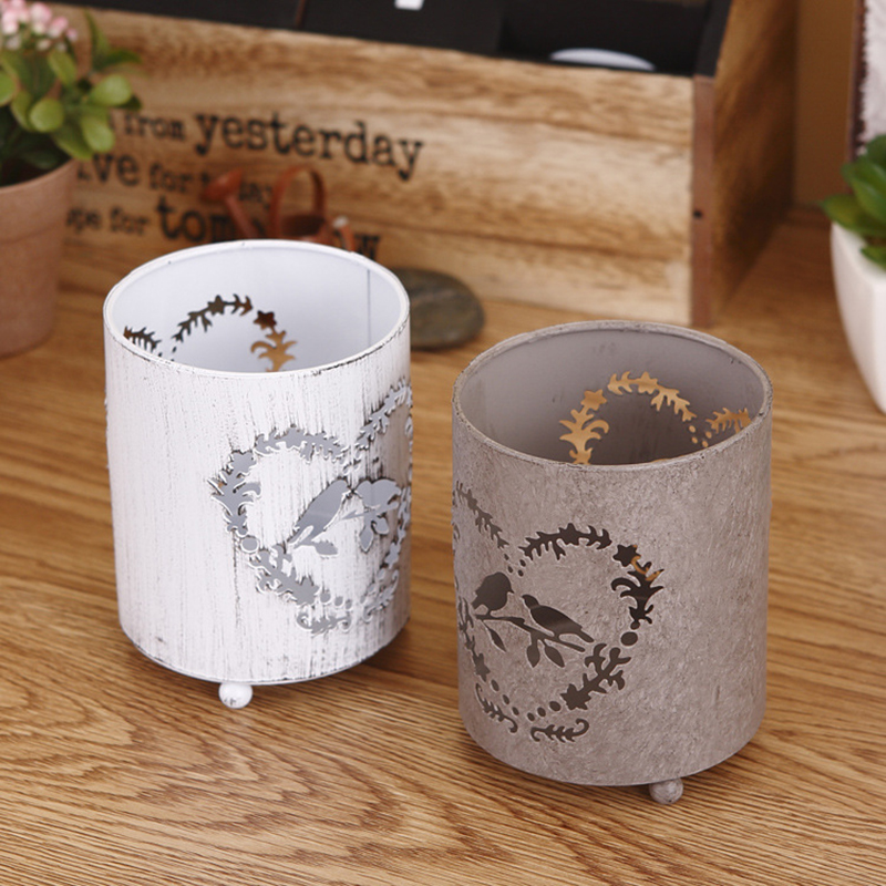 Baby Fashion House Decoration Christmas Hollow Design Iron Candle Holder Candlestick Novelty Home Party Decoration Ornaments New