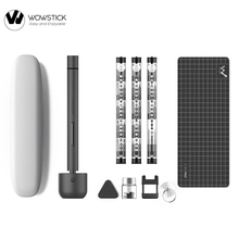 Original Wowstick 1F+ 64 In 1 Electric Screwdriver Cordless Lithium ion Charge LED Power Screwdriver kit 2020 New