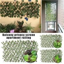 Barrière de treillis en expansion clôture rétractable clôture artificielle de plantes de jardin écran de confidentialité protégé UV pour la Garde d'utilisation intérieure extérieure