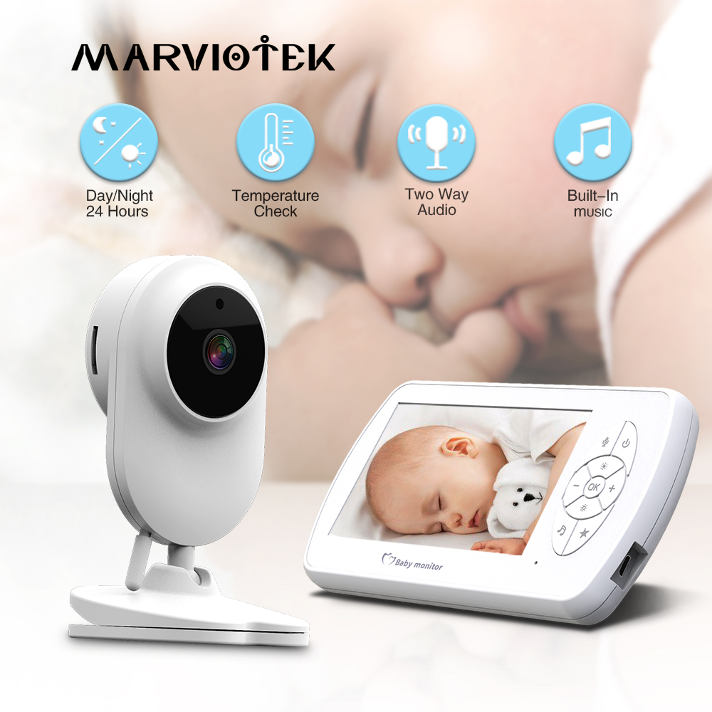 Baby Monitor Two way Audio Nanny Video 4 3 inch Baby Security Camera Babyphone with Camera Night Vision Temperature Detection IR