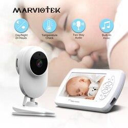 Babyfoon Twee Weg Audio Nanny Video 4.3 Inch Baby Security Camera Babyfoon Met Camera Nachtzicht Temperatuur Detectie