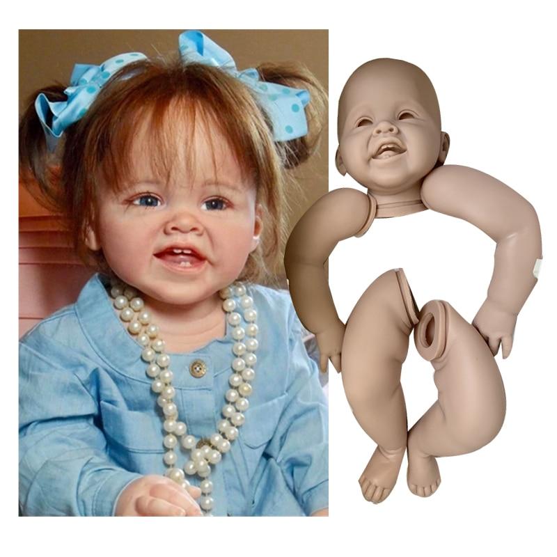 Heißer verkauf 28inch Reborn Puppe Kit Unpainted Puppe Teile Hergestellt Von Volle Silikon Vinyl Real Touch Körper Heißer verkauf diy Enducational Spielzeug