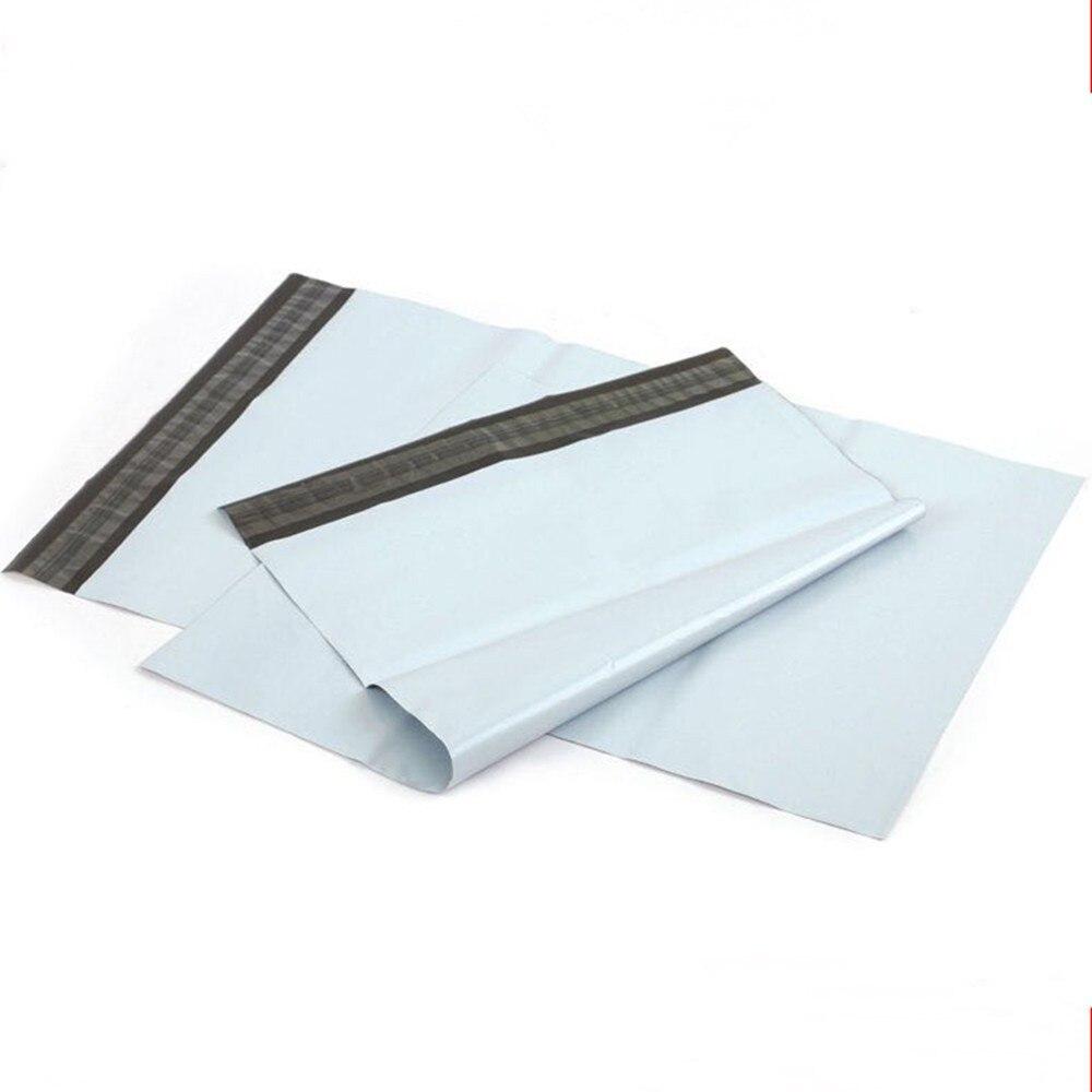 200 pièces blanc Poly Mailers expédition sac en plastique emballage enveloppe courrier courrier courrier emballage auto-adhésif auto-joint 8 taille
