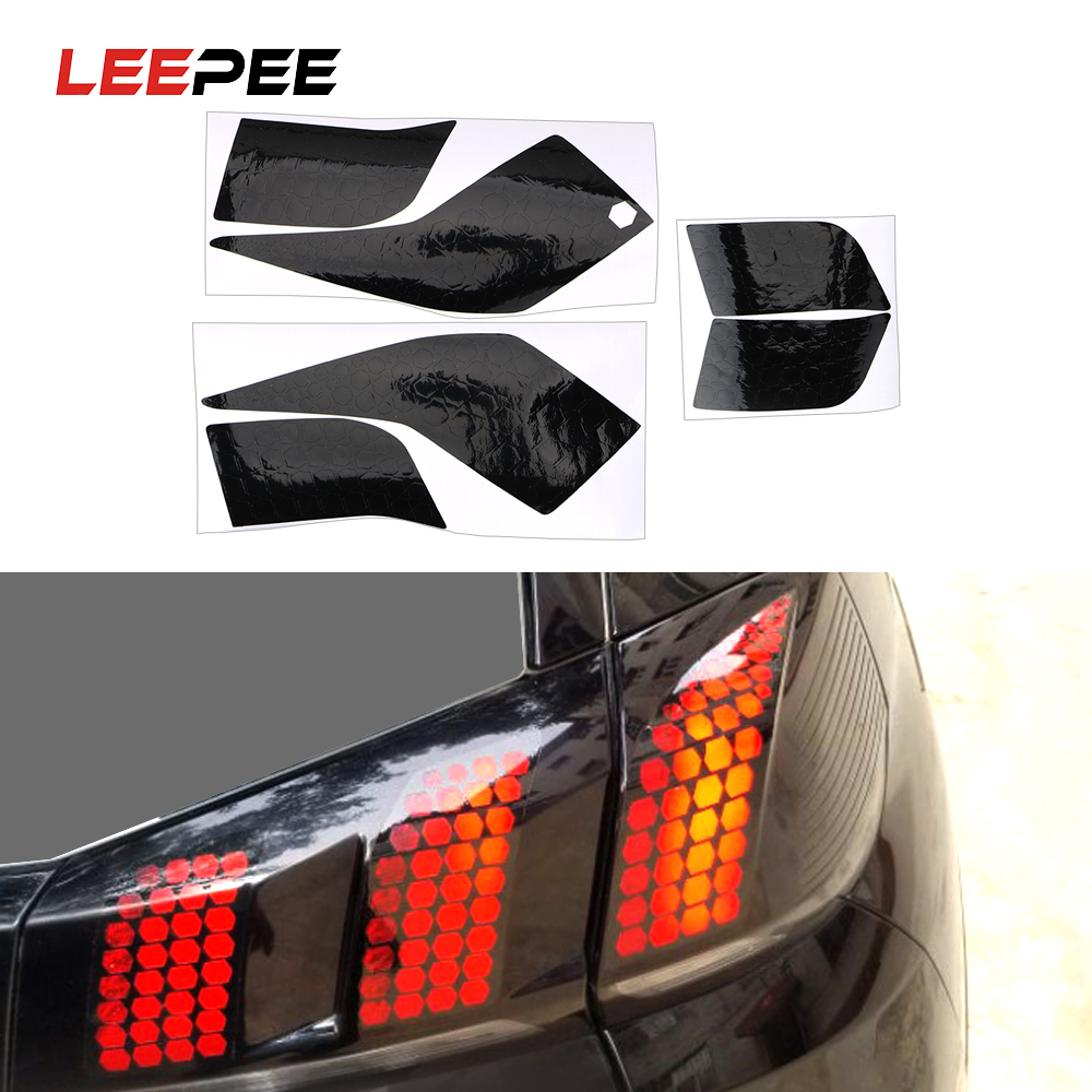 LEEPEE 1 Set Honeycomb Taillight Sticker Film Modified Car Sticker For Peugeot 3008 4008 5008 Exterior Accessories