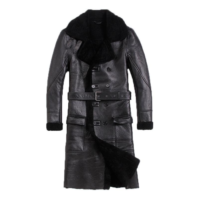 Leather Jacket Men Sheep Shearing Real Fur Coat Natural Wool Coat For Mens Clothing 2020 Winter Jacket Jaqueta De Couro S-N-5