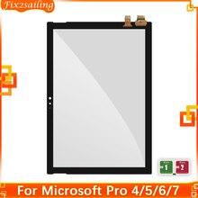 Per Microsoft Surface Pro 4 1724 Pro 4 Pro 5 Pro 6 Pro 7 Touch Screen digitalizzatore sostituzione vetro touch screen testato al 100%