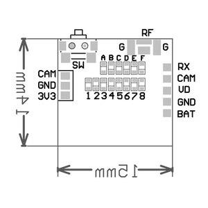 "Image 4 - Caddx اليراع 1/3 ""CMOS 1200TVL 2.1 مللي متر عدسة 16:9 / 4:3 NTSC/PAL FPV كاميرا مع VTX ل RC مولتيروتور FPV سباق بدون طيار"