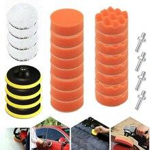 New 28pcs 3 inch M10 Car Polisher Polish Pad Buffer Waxing Polishing Sponge Pads Kit Car Polisher Wax Hand Tools
