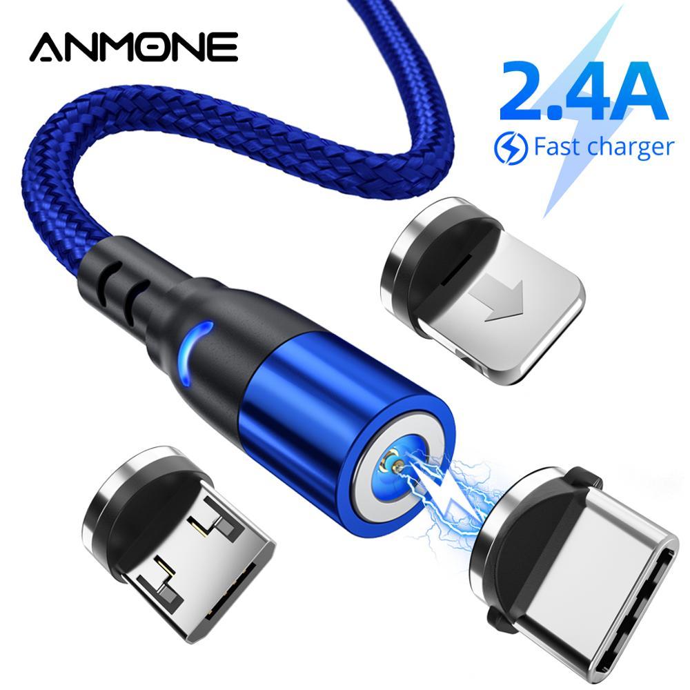 Ładowarka magnetyczna kabel USB Micro USB typ C szybkie ładowanie ładowanie dla iPhone Xiaomi redmi note 7 przewód magnetyczny przewód telefonu komórkowego