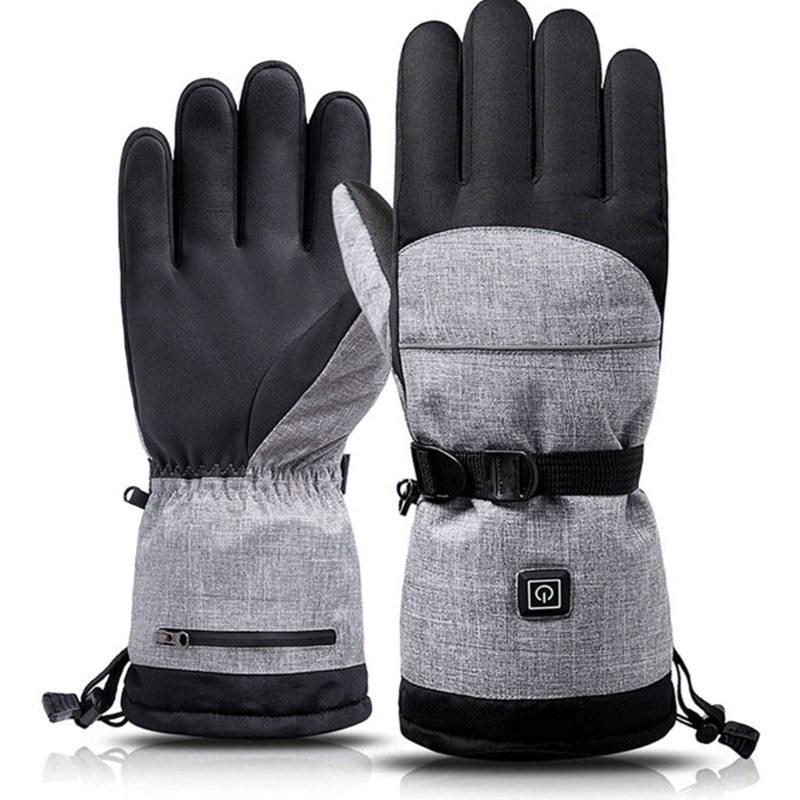 Зимние уличные перчатки с подогревом, трехскоростной термостат, теплый и морозостойкий Электрический