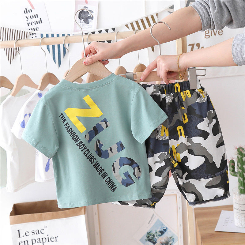 Short Sleeves Toddler Boys <font><b>Clothes</b></font> 0-8 <font><b>Years</b></font> <font><b>Old</b></font> Baby Summer Fashion Kids <font><b>Clothes</b></font> Two-Piece Toddler Boy <font><b>Clothes</b></font> image