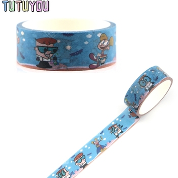 PC329 Cartoon Decorative Paper Washi Tape DIY Scrapbooking Masking Tapes School Office Supply 1 5cm 7m practical series attice line decorative washi tape scotch diy scrapbooking masking craft tape school office supply