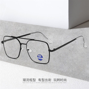 Square Computer Glasses Women Rays Radiation Gamin Eyewear Frames Metal Unisex Anti Blue Light Glasses Men Optical image