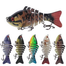 10 Cm 15.7G Swimbait Umpan Multi Jointed Ikan Wobblers Manusia Hidup Memancing Umpan 7 Segmen Swimbait Crankbait Fishing Tackle(China)