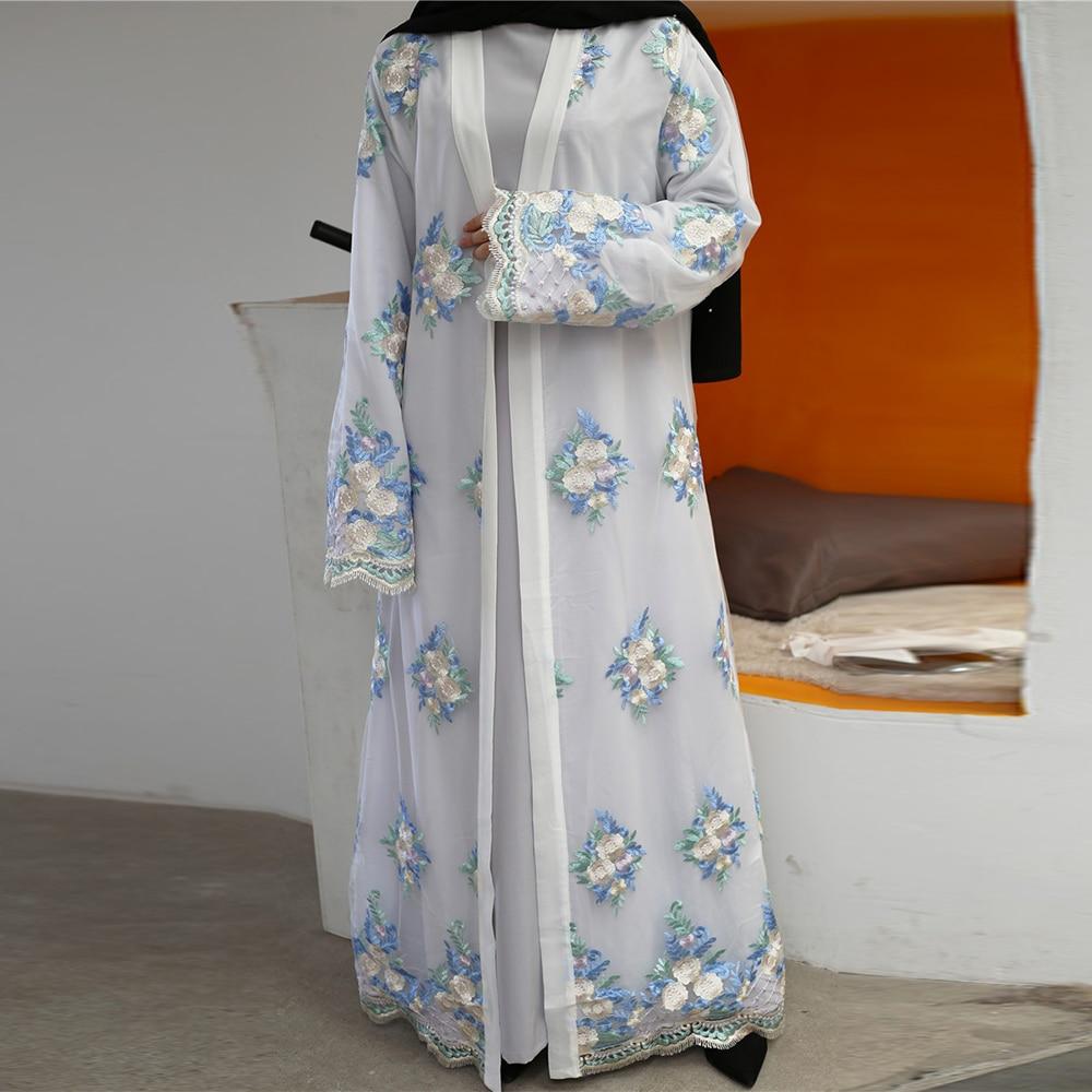 Muslim Women Dubai Ramadan Kimono Abaya Hijab Dress Caftan Turkish Islamic Clothing Kaftan Robe Musulman Bangladesh Abayas Islam