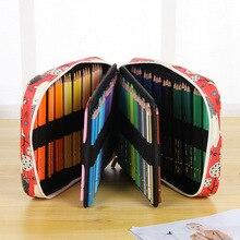الإبداعية الكرتون الحيوان 150 ثقوب مقلمة سعة كبيرة متعددة الوظائف أقلام ملونة حقيبة صندوق الفن الرسم القرطاسية