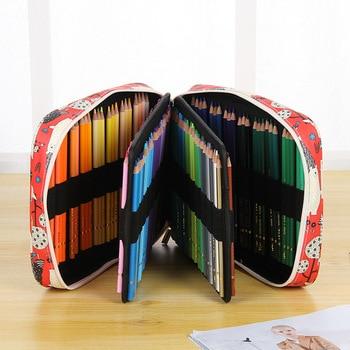 Creative Cartoon Animal 150 Holes Pencil Case Large Capacity Multifunctional Colored Pencils Bag Box Art Drawing Stationery