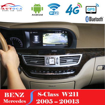 10.25 Inch Android System Car GPS Navigation Multimedia Player For Mercedes Benz S Class W221 2005-2013 CL CLASS W216 Head Unit image