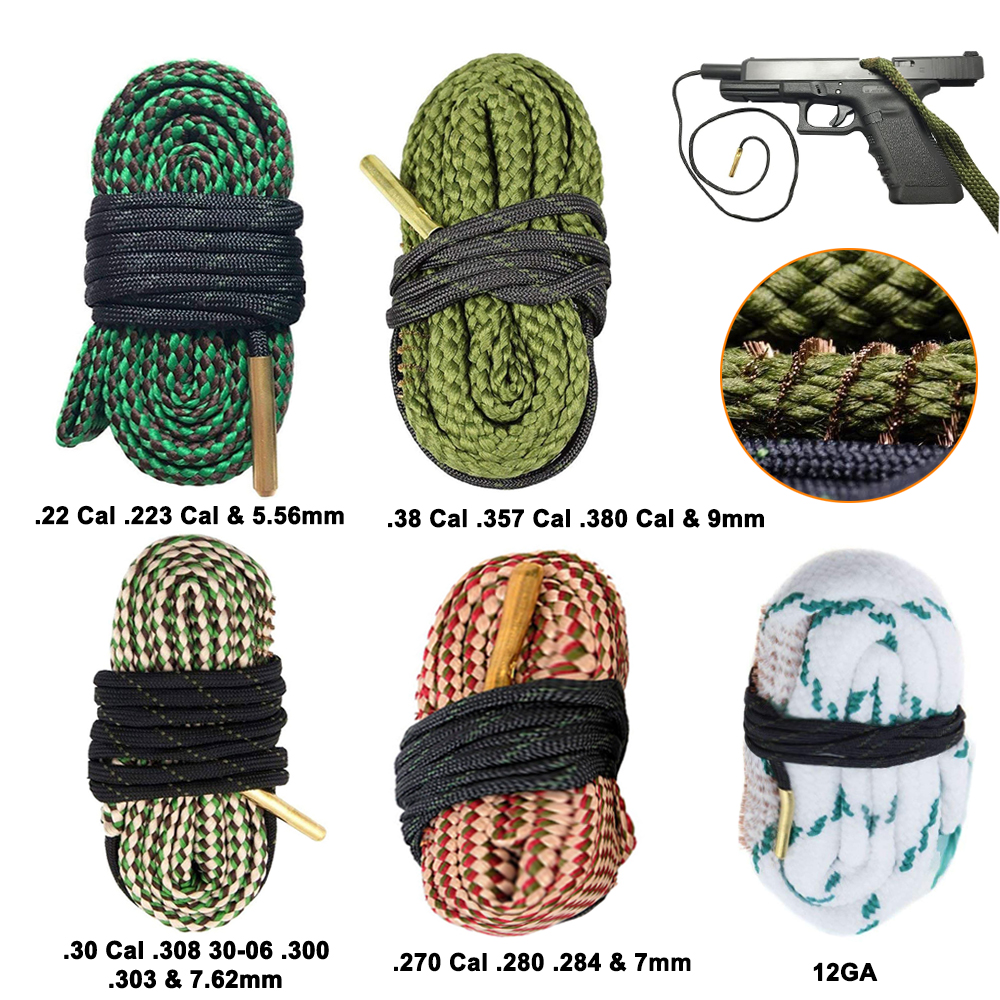 Оружейная Чистящая набор инструментов винтовка калибра веревка 22 Cal.223 Cal.38 отдельно Кол-во и 5,56 мм, 7,62 мм, 12GA страйкбол охотничий пистолет скв...