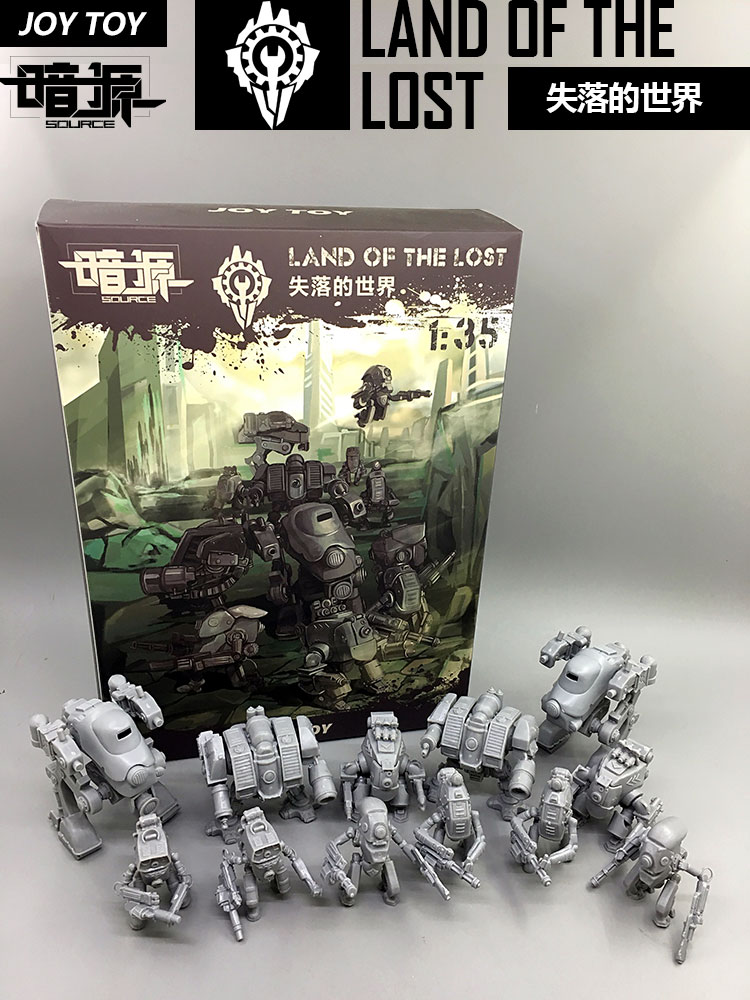 JOYTOY Mech Action figure DIY model kit 12 pieces nude color opp bags image