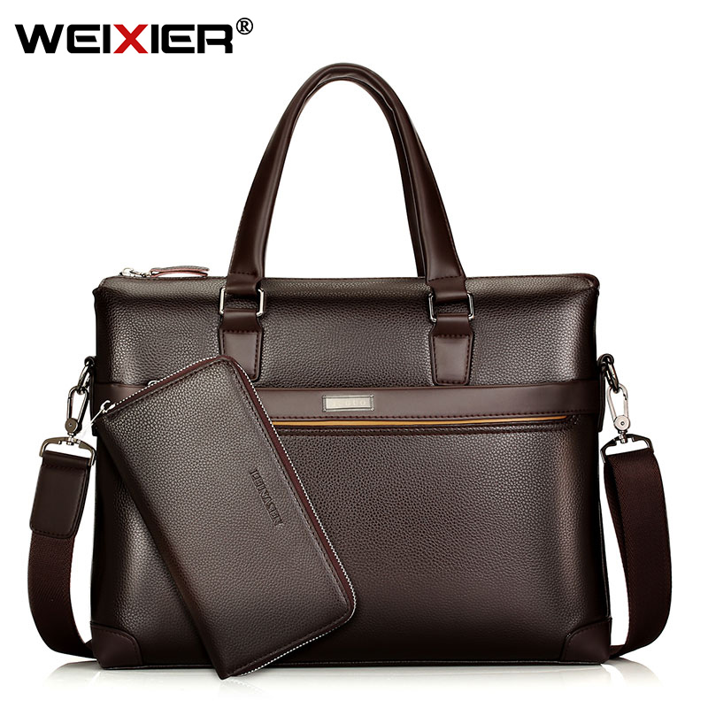 Men's Shoulder Briefcases Bag Handbags Business Men Bags Large Travel Laptop Bag For Man Messenger Bags PU Leather Handbags